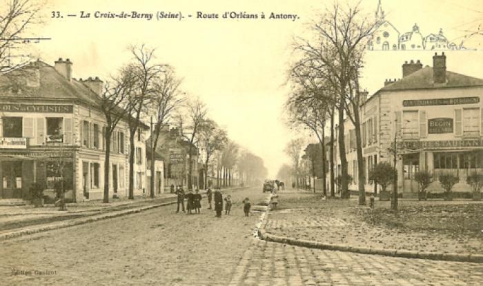 croix de berny en direction d'orleans avant 1909