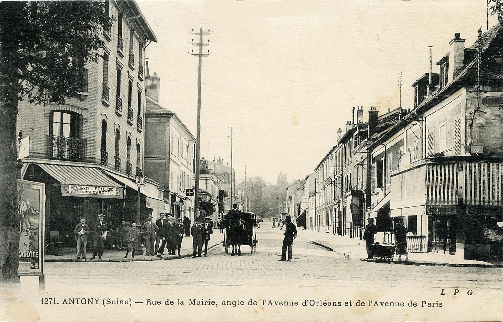 Croisement N20 rue de la Mairie 1931