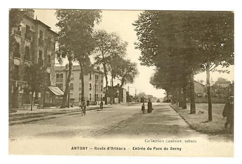 entree parc de berny direction orleans vers 1908