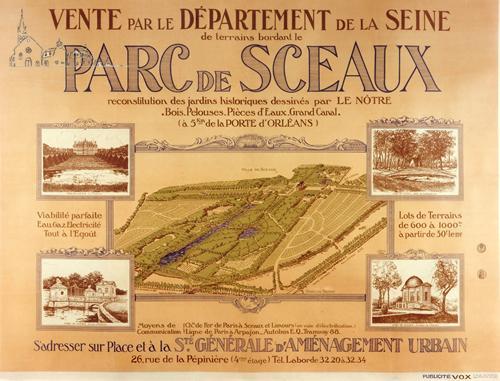 panneau vente parc de sceaux 1929