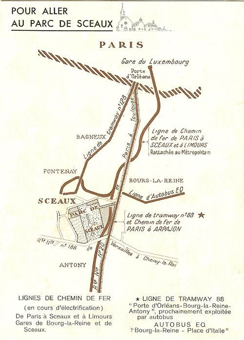 plan acces pac de sceaux 1929