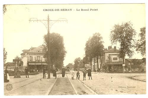 rond point de la croix de berny 1910